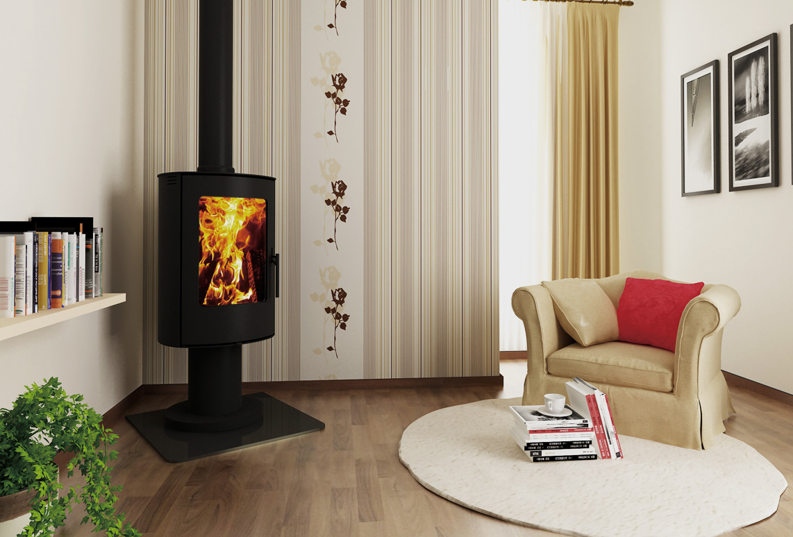 cosmo pedestal fireplace