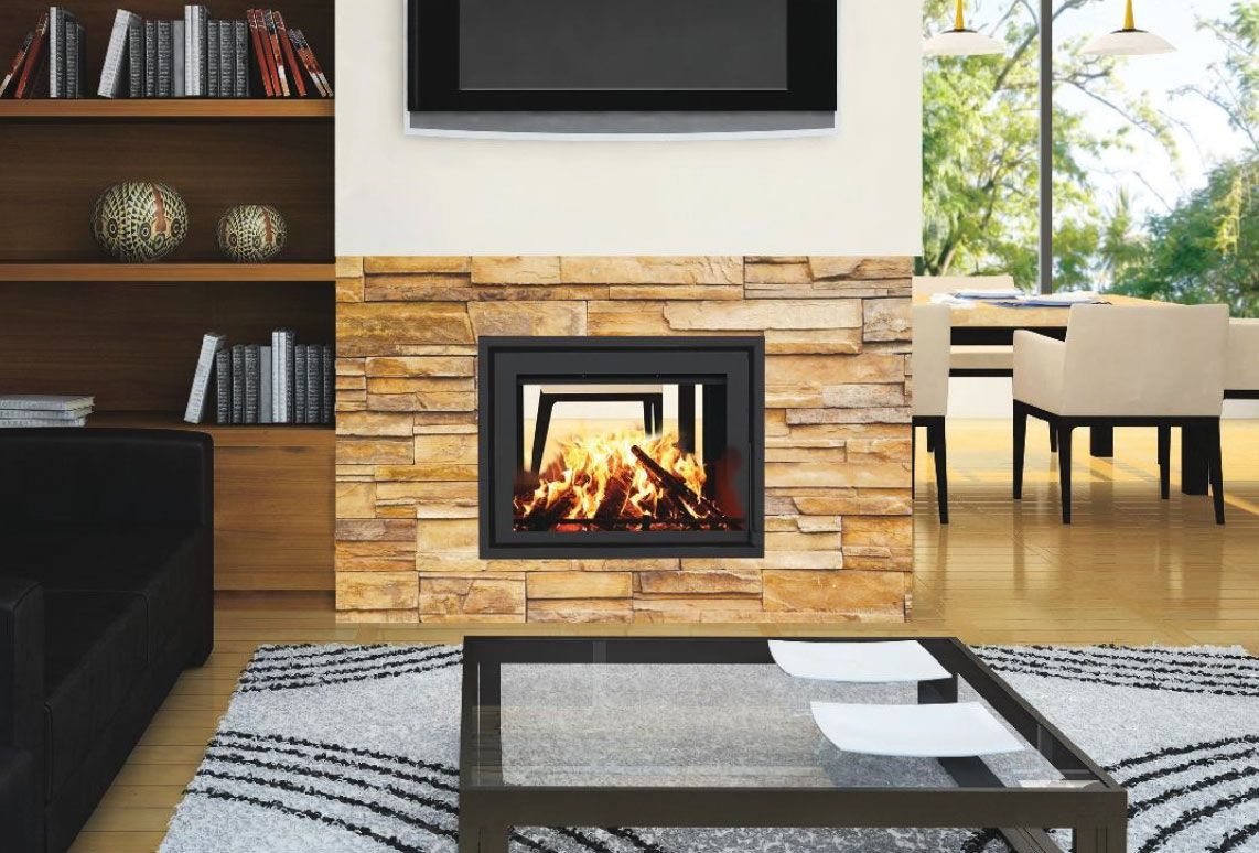 taurus si double sided fireplace